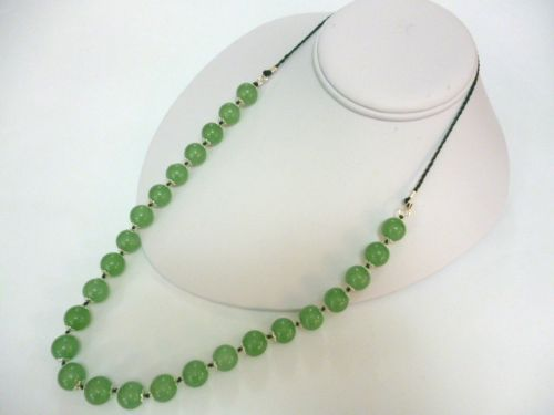 Green Aventurine Jade 26 inch necklace